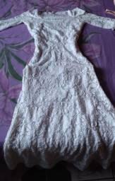 Vestido de noiva ombro a ombro  civil