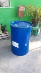 Tonel Metálico 200 litros com tampa removível
