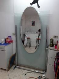 Biombo de vidro com espelho