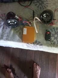 Caixinha de som para moto