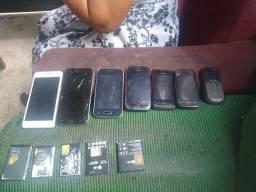 Vendo esses celulares  baterias