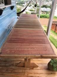 Vendo mesa de madeira 3,25x90