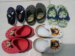 5 Pares de Calçados infantil