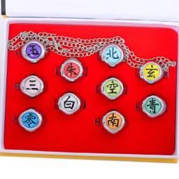 Anéis akatsuki com 10/peças