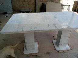 Mesa de granito Branco  Verdeada