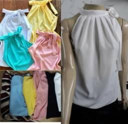 Blusas femininas malha crepe kit com 10 atacado