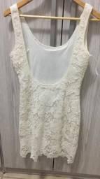 fb0499ecae Vestido riachuelo Branco de renda