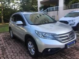 Honda Crv Exl Teto Solar Top de Linha Ano 2014 Banco em Couro GPS Manual Chave Reserva - 2014