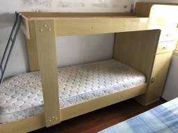 Cama beliche usada (colchão não incluso)
