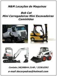 Serviço de Locação de Mini Escavadeira, Mini Carregadeira Bob Cat, Caminhão e Empilhadeira