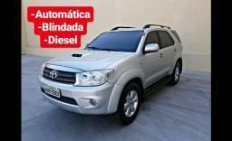 Toyota Hilux SW4 3.0 Diesel Blindada Automática, DVD, Bancos De Couro, 4 Pneus Novos - 2006