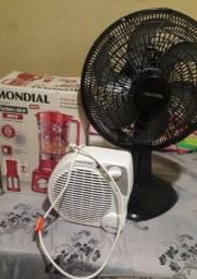 Ventilador aquecedor liqüidificador.