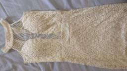Vestido renda branco tubinho