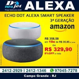 Echo Dot Alexa Smart Speaker 3ª Geração Preto / Branco - Amazon