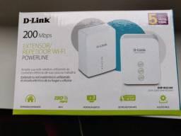 Extensor/Repetidor D-Link Powerline AV200 Wi-Fi N150 (DHP-W221AV)