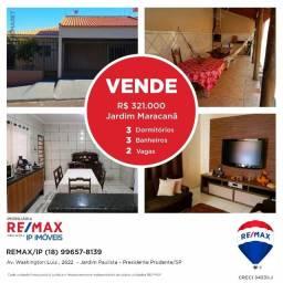 Casa à venda, 163 m² por R$ 321.000 - Jardim Maracanã - Presidente Prudente/SP