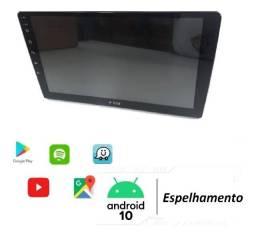 Central Multimídia 1 Din HT9020 Tela de 9 Polegadas Bluetooth Espelhamento