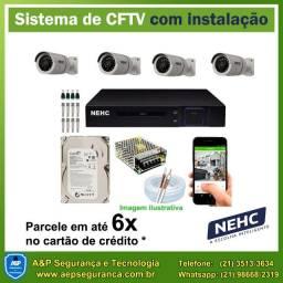 Câmeras de Segurança CFTV a partir de 999,00 (instalado) - Acesso pelo celular!