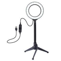 Anel de Luz/Luminária de LED USB para Vídeo/Fotografias/Selfie/Vlog com 4,7 Polegadas