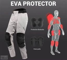 Calça de proteção para moto feminina, impermeável