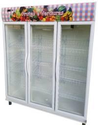 Balcão Refrigerado Expositor Frutas e Verduras 3 portas