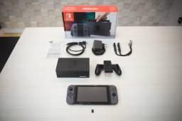 Nintendo Switch Cinza Na Caixa + Sxos - Serial Bom!