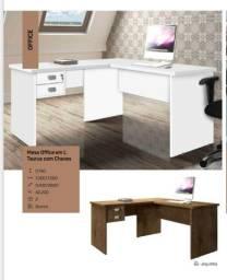 Mesa escrivaninha em formato L *