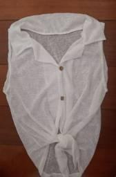 Blusa Branca Amarração