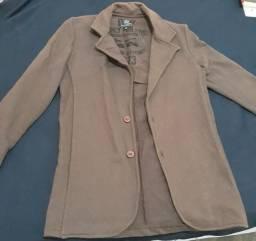 Roupa; blazer feminino marrom