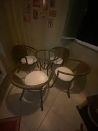 Conjunto Mesa e Cadeira para área externa