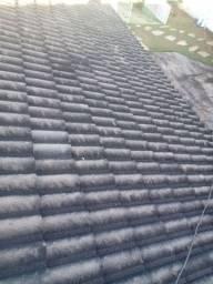 Limpeza de telhado e tratamento anti fungos