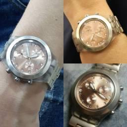 Relógio Swatch feminino Rose