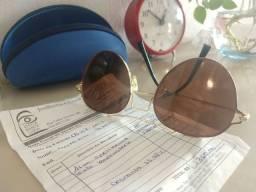 Óculos Original de Sol feminino, nota fiscal