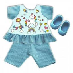 Roupa Para Boneca Baby Alive - Kit Unicórnio - Laço de Fita