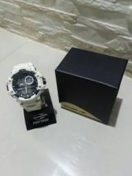 Relógio Mormaii Branco Digital e Analógico