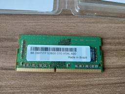 Memória Notebook 8GB ddr4 2666mhz