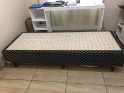 Base de cama box cama solteiro conservada