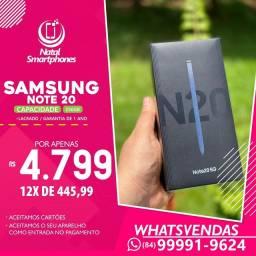 Samsung Galaxy NOTE 20 (256GB) LACRADO+NF+GARANTIA DE UM ANO ( TODAS AS CORES )
