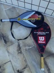 Raquete de tênis Wilson 25 de titânio + capas