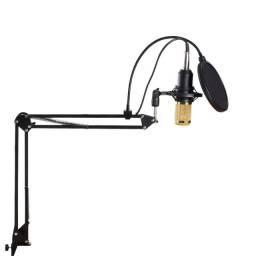Promoção Kit Microfone Profissional Bm800 Condensador - Novo
