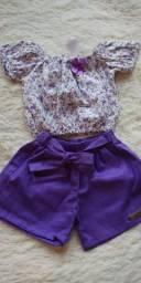 Conjunto Infantil Menina Shorts (Bermuda) com Blusinha