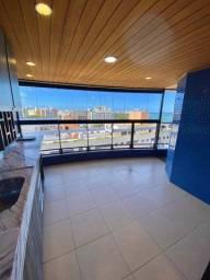 Apartamento a beira-mar com 3 suítes, varanda gourmet equipada