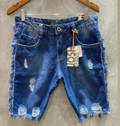 Bermudas Jeans Destroyed