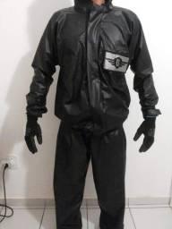 Capa de chuva motociclista pantaneiro PVC
