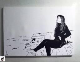 Quadros decorativos com seu retrato em preto e branco