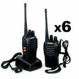 Kit Baofeng 6 Unidades de Rádios Comunicadores Walk Talk Bf-777s