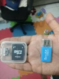 Cartão micro SD + 2 adaptadores
