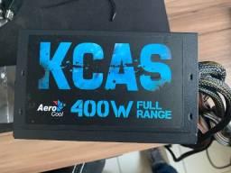 Fonte aerocool kcas 400w white full range 80 plus