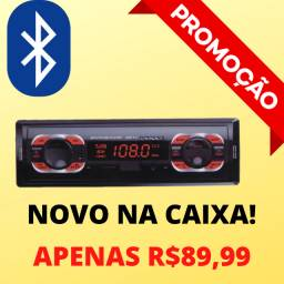 Radio Atende Telefone Automotivo Novo Bluetooth Usb Mp3 Relógio Auto!!