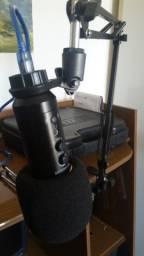 Microfone USB Condensaror e Mic JLW
